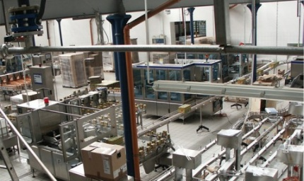 The New Production Hall with Aseptic Lines