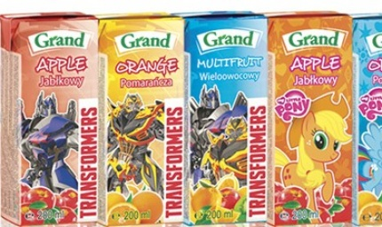 Grand 200ml drink on Hasbro licence
