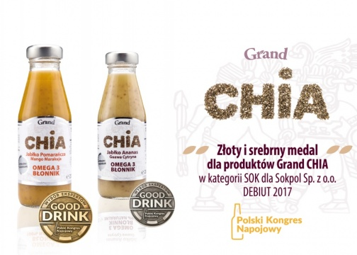 Our Grand Chia 200ml received gold and silver medal